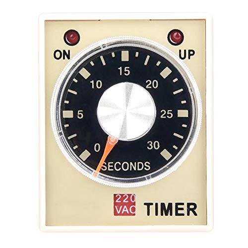 AH3-3 Retardo del temporizador de retardo, CA 220 V 50/60 Hz Relé del relé de tiempo de electricidad Interruptor de control del temporizador de retardo(30S)