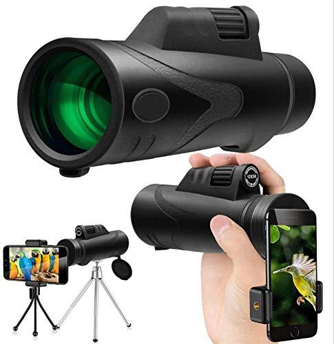 HD Monoculaire Telescope Portable Verrekijkers 12X50 Dual Focus for het bekijken van de Jacht Reist Bekijk Events met gratis Tripod