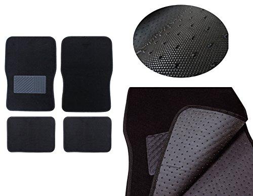 Auto Universal Fussmatten   Schmutzfangmatte   Autoteppich Schwarz   4-teiliges Automatten Set   KFZ Trittschutz   Fußmatte   Teppich für Auto   Stoffmatten   Fußabtreter Innenraum   Schmutzmatte