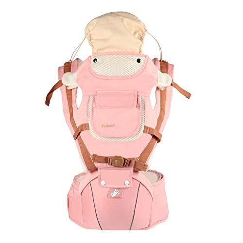 Mochila Portabebé Multifunción Ergonomicas para Bebé Recién Nacido Marsupios portabebé 6 Postura manos libres Adjustable Transpirable Pink Talla única