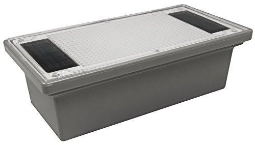 McShine - Solar LED Bodenleuchte Wegbeleuchtung | Pflasterstein | IP68, 20x10x6cm, Solarbetrieb