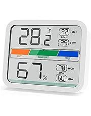 デジタル温湿度計 温度計 湿度計 デジタル キャンプ温度計湿度計 デジタル 室内温度計 マグネット付 高精度 コンパクト(長方形)
