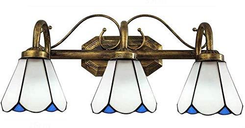 DXDUI Lámpara de Pared de Estilo Tiffany vidrieras Pared Faro Moderno Minimalista/Espejo, Inodoro Cuarto de baño, Mesa, Pared