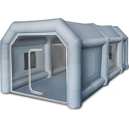 BuoQua Tienda de Campaña para Coche, Cabina de Pulverización Inflable Cabina de Pintura Inflable 4x2,5x2,2m Gris