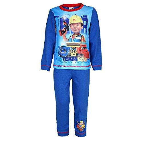 Bob der Baumeister - Jungen Schlafanzug - Offizielles Merchandise - Geschenk für Kleinkinder - Rot - 18-24 Monate