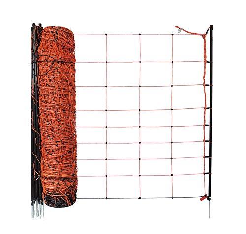 Koll Living Fence Schafnetz/Elektronetz Classic mit 90cm Höhe und 1 Spitze je Pfahl, 50m Gesamtlänge, der Netz Klassiker zum Top Preis