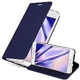 Cadorabo Funda Libro para Samsung Galaxy A5 2016 en Classy Azul Oscuro - Cubierta Proteccíon con Cierre Magnético, Tarjetero y Función de Suporte - Etui Case Cover Carcasa