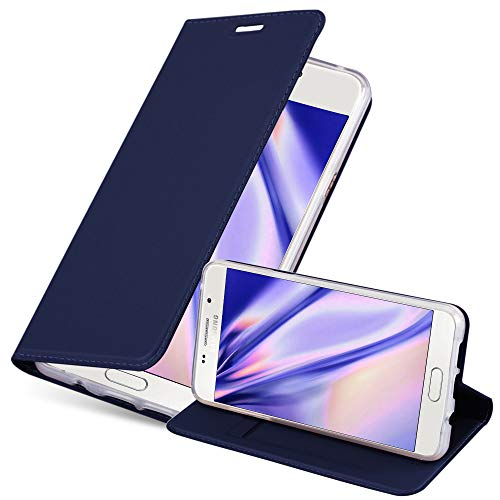 Cadorabo Hülle für Samsung Galaxy A5 2016 in Classy DUNKEL BLAU - Handyhülle mit Magnetverschluss, Standfunktion & Kartenfach - Hülle Cover Schutzhülle Etui Tasche Book Klapp Style