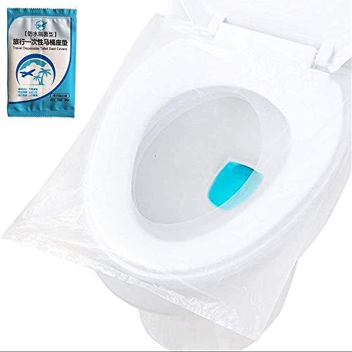 50 piezas de toallas higiénicas desechables,inodoros desechables,tamaño universal,adecuados para hospitales,estaciones,hoteles,baños públicos,antibacterianos,impermeables,envases de viaje