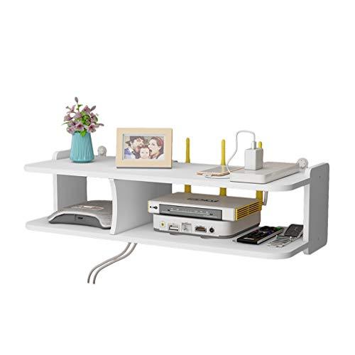 Estantes de pared Blanco de Protección Ambiental de plástico de madera Junta Mueble de TV, WIFI Router de almacenamiento en rack Set Top-Box Teléfono de almacenamiento en rack multimedia modernos Mueb