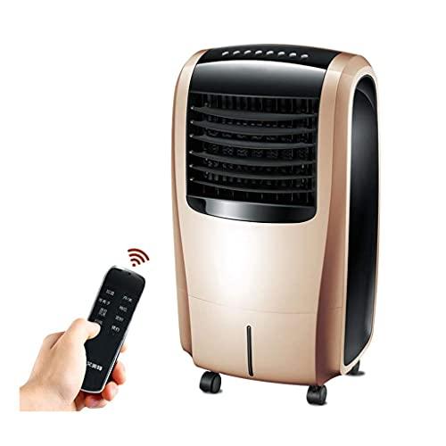 XPfj Climatizzatore Portatile Summer Air Refriger, Riscaldamento Portatile Condizionatore d'Aria di Raffreddamento 15H Timer 10L Serbatoio dell'Acqua Pannello LED 4 in 1 Ventola Fredda Giallo