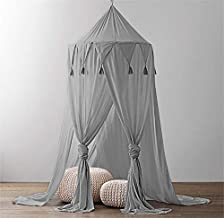 Kids Play Tents Mosquito Net Nursery Bed Canopy Perfect Decoration for Children Princess Bedroom or Baby Room Jefshon Bed Canopy for Girls Blue