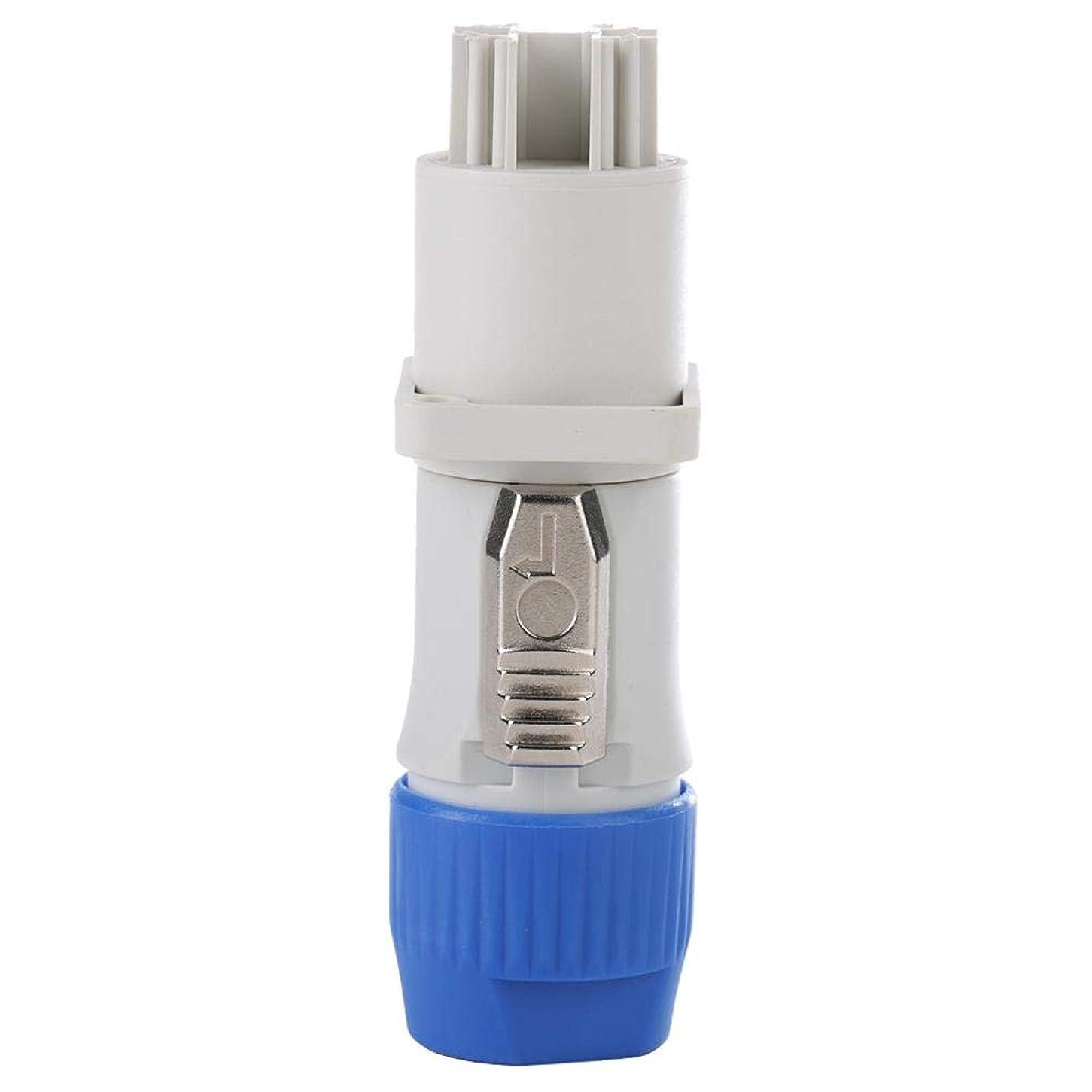 パステルレンド解決250V AC3MΩ防水オーディオコネクタプラグ航空機用電源LEDライト電流(ホワイト)