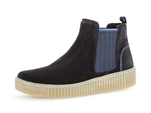 Gabor Damen Chelsea Boots 33.731, Frauen Stiefelette,Stiefel,Halbstiefel,Bootie,Schlupfstiefel,flach,Pazifik/blau(Natur,38.5 EU / 5.5 UK