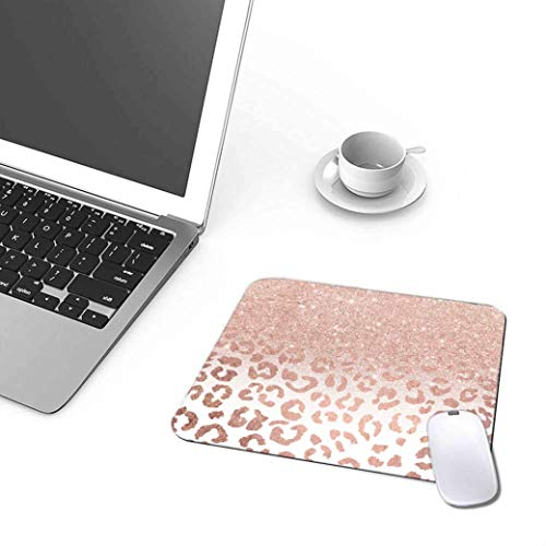 Pink Leopard Star Pattern Mouse Pad Desktop Decoration Personalized Custom Mouse Pad Non-Slip Rubber Mousepad 9.5 X 7.9 Inch Photo #3