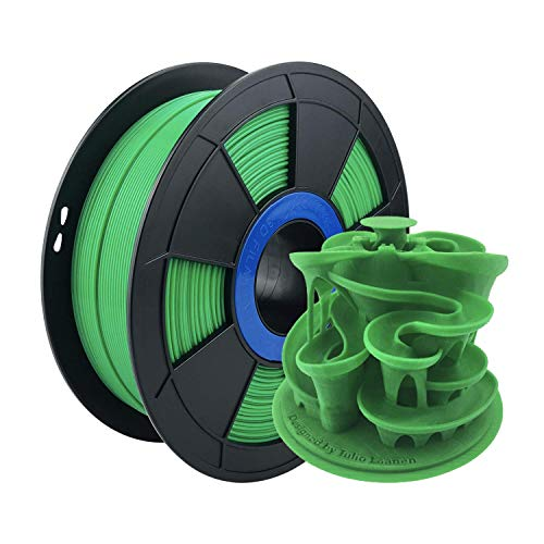 ZIRO PLA Filament 1.75mm,3D Printer Filament PLA PRO Basic Color Series 1.75MM 1KG(2.2lbs), Dimensional Accuracy +/- 0.03mm, Green