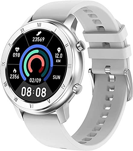 QHG Reloj de Salud para Mujeres Presión Arterial Monitor de Ritmo cardíaco Sangre Oxygen Pedómetro Fitness Tracker Mensaje Recordatorio Sleep Monitor Smart Watch para Mujeres Mujeres (Color : Gray)
