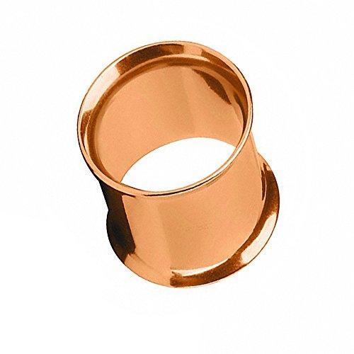 Taffstyle Túnel dilatador para la oreja, de acero inoxidable, cierre de rosca, 8 mm, oro rosa