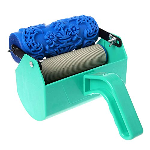 """House Paint Rollers,5"""" DIY Patterned Paint Roller Decorative Rubber Roller Decorative Art Roller Texture Roller with Plastic Handle"""