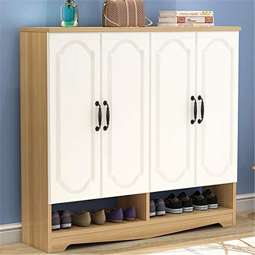 Gabinete de zapatos Entrada en el hogar Gran capacidad simple Moderno Moderno Mueble Multifuncional Balcony Gabinete de almacenamiento Armario zapatero ( Color : Natural , Size : 120x32x102cm )