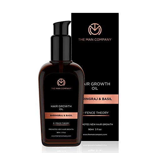 THE MAN COMPANY Hair Growth Oil for Hair Loss (90 ml) – Hair Growth Organic, thinning Hair Regrowth Oil –100% natural hair oils – Hair Thickener with Bhringraj oil for hair growth