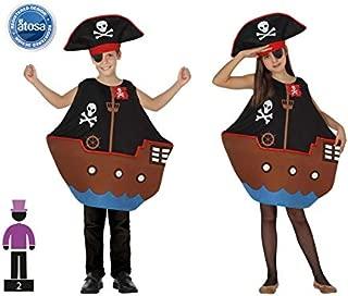 LEMON TREE SL Disfraz de Barco Pirata Infantil, 2 Piezas, Fiestas ...