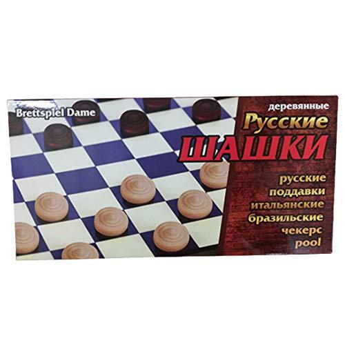 rumarkt Brettspiel Dame aus Holz Schaschki шашки