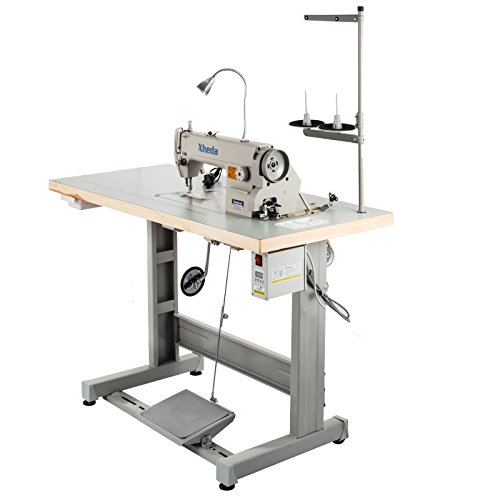 VEVOR Industrial Sewing Machine DDL8700 Lockstitch Sewing Machine with Servo Motor + Table Stand + LED Lamp Commercial Grade Sewing Machine for Sewing All Types of Fabrics (DDL-8700)