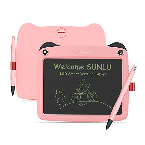 LCD Writing Tablet, 9 Inch Toddler Doodle Board Drawing Tablet, Erasable Reusable Electronic Drawing Pads, Educational and Learning Toy for 2-6 Years Old Boy and Girls (Pink)