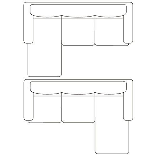 Ecksofa Couch –  günstig Festnight 3-Sitzer L-Form Bild 3*