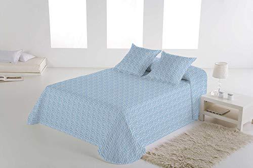 TOLRA BOUTI Reversible Azul Cama 105 cm DF001-CORONA
