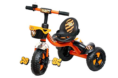 Luusa RX-250 Tricycles for Kids with Seat Belt and Sipper (Orange)