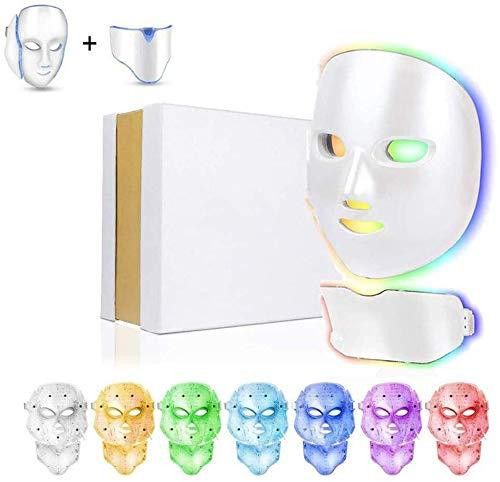 Beauty Huidverjonging Photon Masker 7 Kleuren LED Light Therapie Behandeling Whitening Anti-Aging Acne Rimpels Glad Fijne Lijntjes Facial Daily Skin Care
