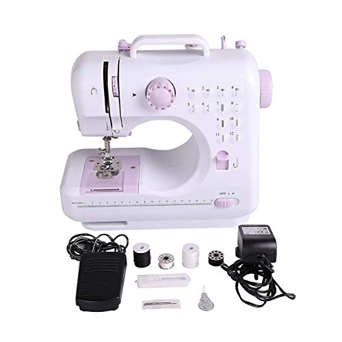 RUIVEN Mini Sewing Machine, Multi-function Portable Electric Sewing Machine (built-in 12 Needle 2 Speed, LED Sewing Lamp)