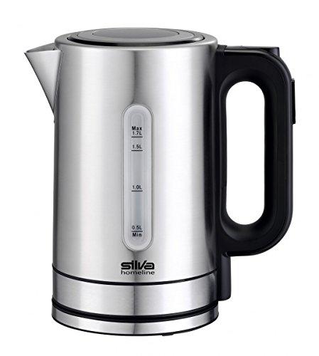 Silva-Homeline KL-T 2200 Edelstahl-Wasserkocher Control und beleuchteter Füllstandsanzeige, 5 wählbare Temperaturen, Rostfreier Stahl, 1.7 liters