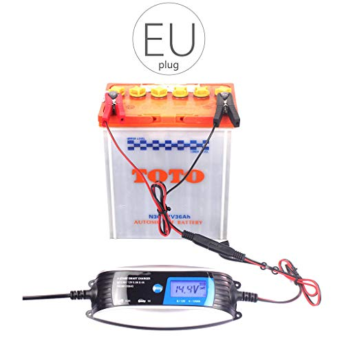 6V 12V 0.8A 4A motorfiets automatische acculader 7 fase slimme waterdichte EFB GEL AGM NAT auto-acculader