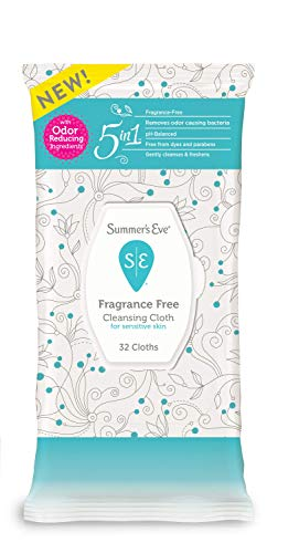 Summer's Eve Cleansing Cloths | Fragrance Free | pH-Balanced | 32 Count (Pack of 1)