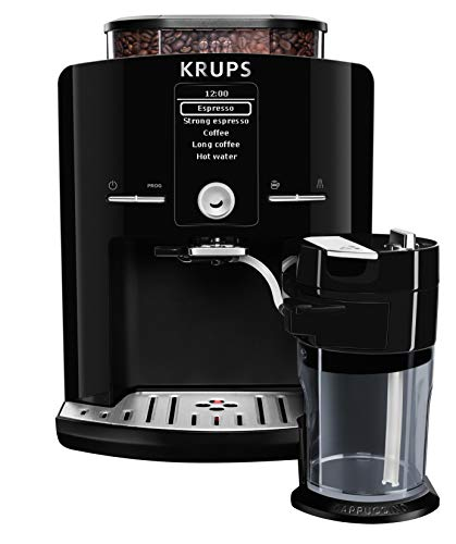 KRUPS EA8298 Kaffeevollautomat Latt\'Espress One-Touch-Funktion (1,7 l, 15 bar, LC Display, Cappuccinatore) schwarz