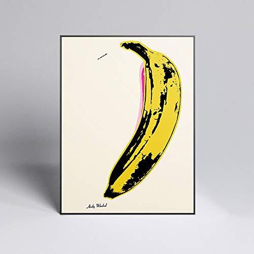 Andy Warhol 'banana' Pop Art Decoración Pintura Lienzo Pintura Carteles e impresiones Cuadros de pared para la decoración de la sala de estar -50x70cmSin marco