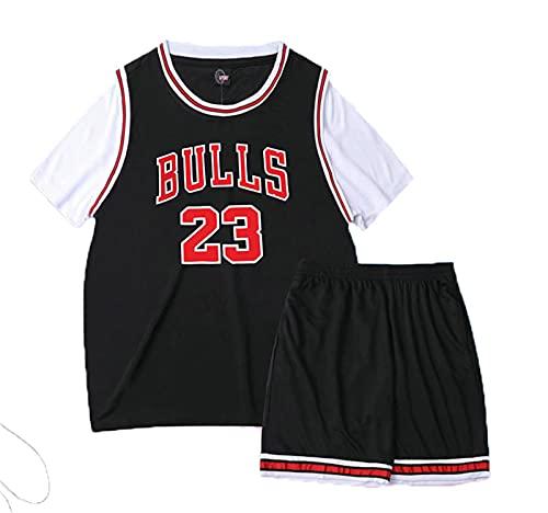 YXST Camiseta De Baloncesto NBA Ganado # 23 RéPlica De Jugador De Baloncesto,para JóVenes Sudadera Camiseta + PantalóN Corto,Unisex Adulto Estilo Deportivo,Black,3XL