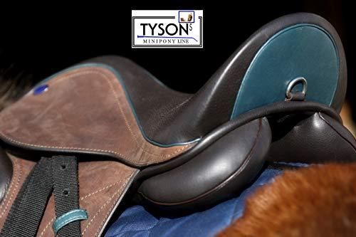 Tysons Breeches MAX Ledersattel + 5 Kopfeisen 14 15 Zoll Shetty Ponysattel Sattel Leder verstellbar (15 Zoll)