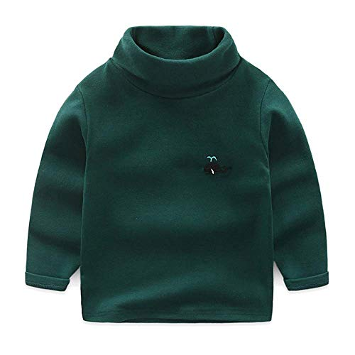 Guy Eugendssg Autumn Baby Boys Girls Turtleneck Sweaters Kids Sweaters For Winter Knitted Sweaters Infant Dark Green 110Cm