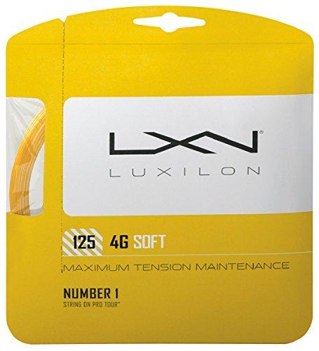 Luxilon 4G Soft Cordaje de tenis, 12.2 m, unisex, dorado, 1.25 mm