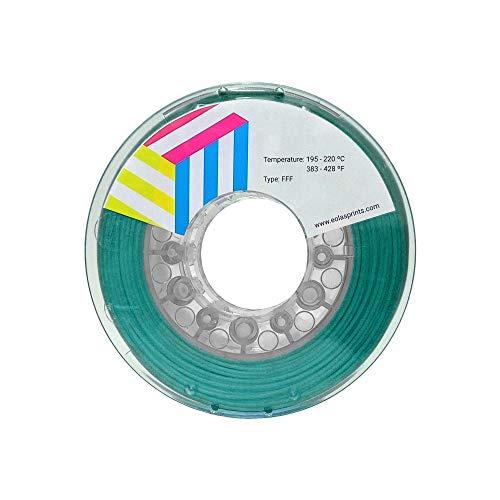 Eolas Prints | Filamento PLA 1.75 | Stampante 3D | Made in Europa | Adatto per l'uso con alimenti e creare giocattoli | 1,75 mm | 1 kg | Acqua Marina