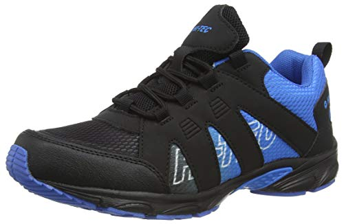 Hi-Tec Warrior JR, Zapatillas para Caminar, Azul/Negro, 34 EU