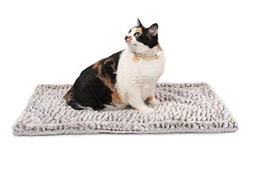 Mora Pets Selbstheizende Decke für Katzen & Hunde - Selbstwärmende Katzendecke Hundedecke, Wärmedecke Katze, Thermodecke katzenbett Wärmematte Hund Waschbare Größe: 70x47cm