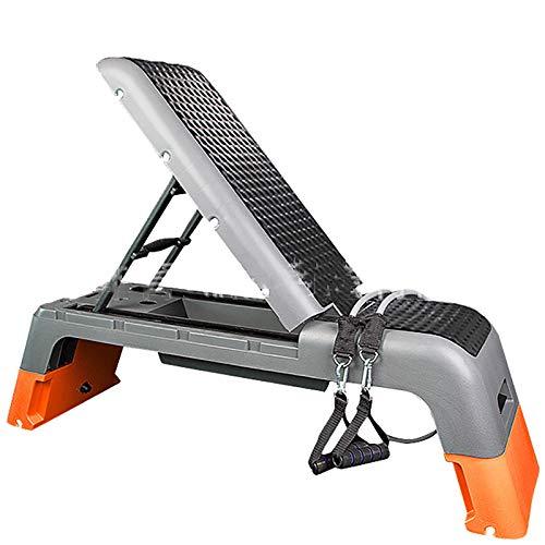 JIAGU Plataforma aeróbica Aerobic Fitness Mancuerna Silla Banco Crujidos Rhythm Ejercicio Pedal Press Banco Fitness Stepper Ajustable (Color : Red, Size : 112x34x35cm)