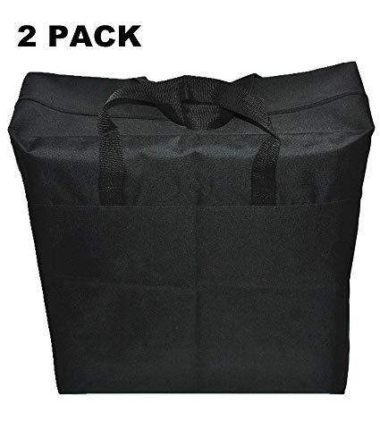 LUZHOU Extra Large Portable Storage Bag, Moisture Proof,College Carrying Bag,Toy, Quilt Storage Bag, Moving Bag,Reusable Laundry Bag (2 Pack Black)