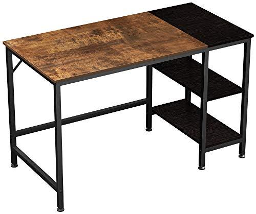 JOISCOPE Computer Desk,Office Desk,Laptop Table,Study Desk with Shelves,Industrial Desk Made of Wood and Metal,120 x 60 x 75 cm (Vintage Oak Finish)