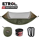 ETROL Upgraded 2 in 1 Large Camping Hammock with Net, Pop-Up Lightweight Portable Hanging Hammocks with Tree Straps, Swing Sleeping Hammock with Net for Outdoor, Hiking, Backpacking